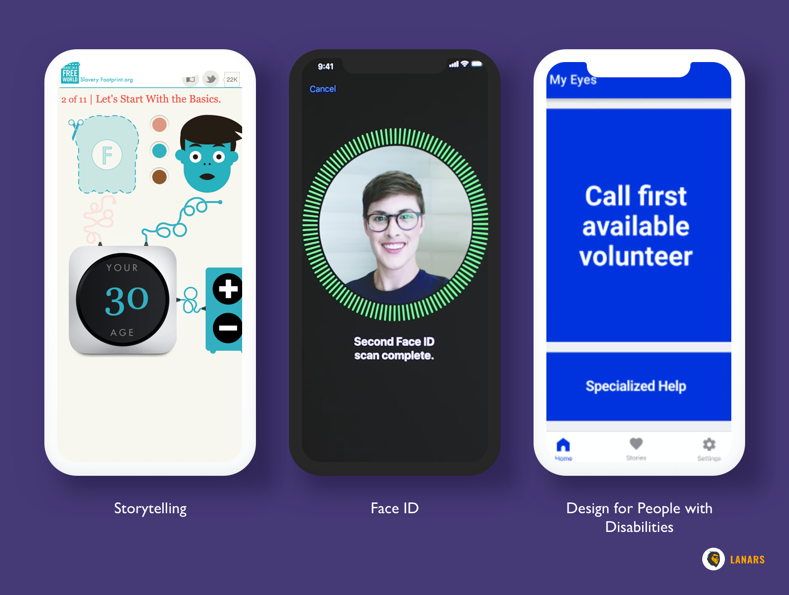 UI and UX Design for People with Disabilities,Storytelling,Face ID